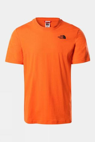 The North Face Mens Short Sleeve Red Box Tee Flame