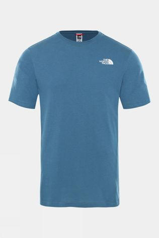The North Face Mens Short Sleeve Red Box Tee Mallard Blue/TNF Black
