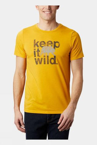 Columbia Mens Terra Vale II SS Tee Bright Gold, Keep It Wild
