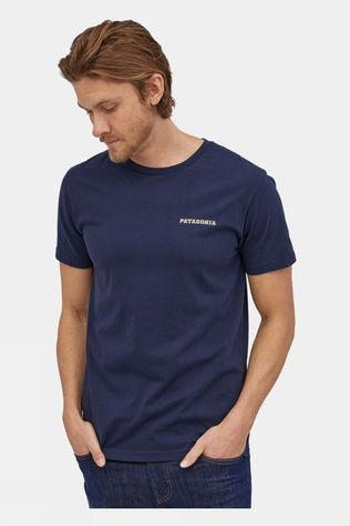 Patagonia Summit Road Organic T-Shirt Classic Navy