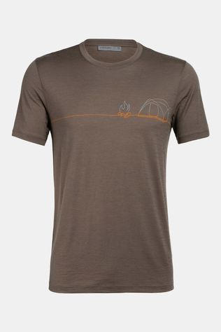Icebreaker Mens Tech Lite Crew Single Line Camp T-Shirt Driftwood