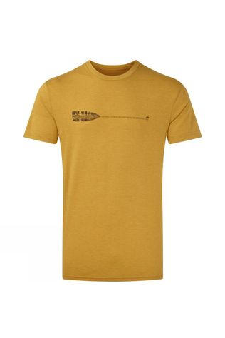 Tentree Mens Cove Classic T-Shirt Sweet Birch Yellow Heather