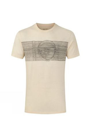 Tentree Mens Topographic Classic T-Shirt Elm White Heather