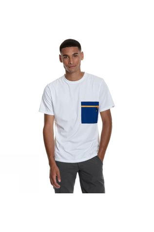Berghaus Mens Drakestone Pocket T-Shirt White/Sodalite Blue