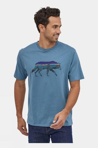 Patagonia Men's Back For Good Organic T-Shirt Pigeon Blue/Wolf