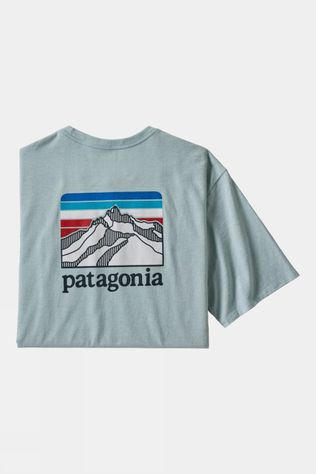 Patagonia Men's Line Logo Ridge Pocket Responsibili-Tee Big Sky Blue