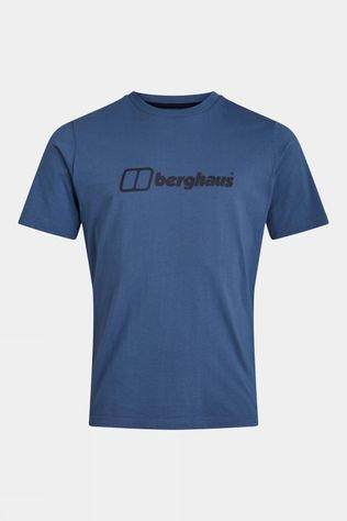 Berghaus Mens Organic Big Colour Logo Short Sleeve Tee Vintage Indigo