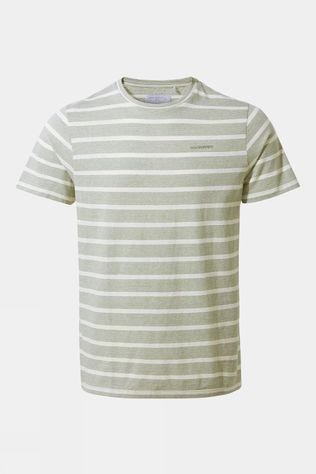Craghoppers Mens NosiBotanical Sten Short Sleeved T-Shirt Sage Stripe
