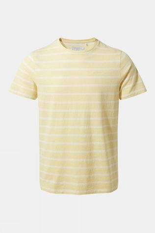 Craghoppers Mens NosiBotanical Sten Short Sleeved T-Shirt Papyrus Stripe