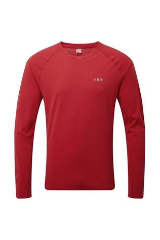 Rab Mens Force Long Sleeve Tee Cayenne