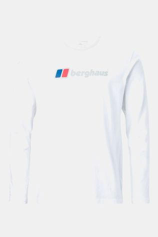 Berghaus Mens Big Corporate Logo LS Tee Pure White