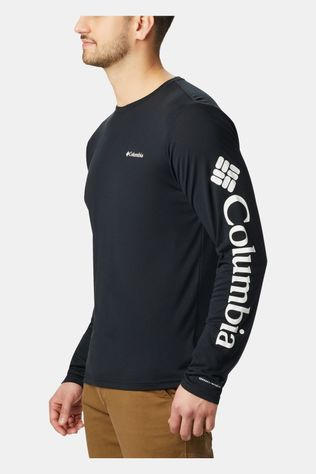 Columbia Mens Miller Valley Long Sleeve Graphic Tee Black/ White