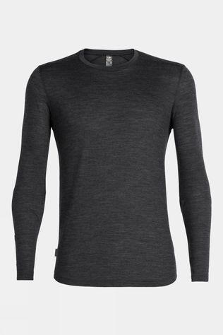 Icebreaker Mens Sphere Long Sleeve Crewe Black Hthr
