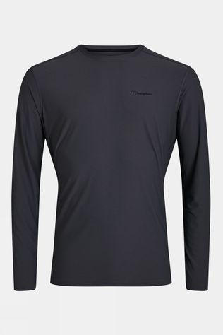 Berghaus Mens 24/7 Tech Long Sleeve Crew Grey Pinstripe