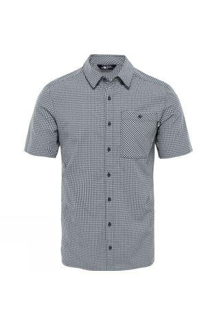 The North Face Mens Hypress Short Sleeve Shirt Asphalt Grey