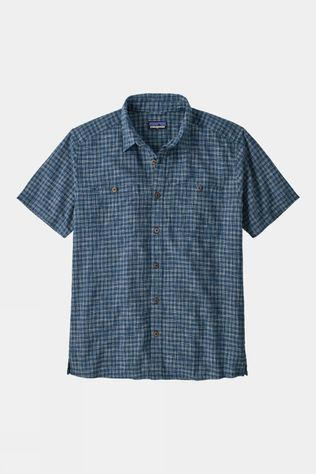 Patagonia Mens Back Step Shirt Ikat Net/Stone Blue