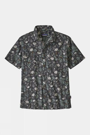 Patagonia Mens Back Step Shirt Fiber Flora Multi/Forge Grey