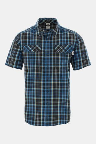 The North Face Mens Pine Knot Shirt Blue Wing Teal Plaid