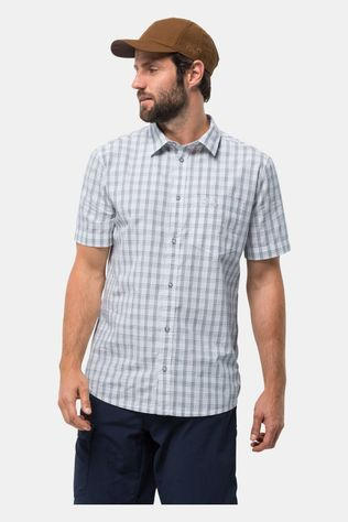 Jack Wolfskin Mens Hot Springs Shirt White Rush Checks