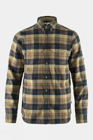 Fjallraven Mens Singi Heavy Flannel Shirt Dark Sand