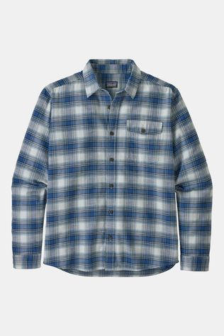 Patagonia Mens Long Sleeved Lightweight Fjord Flannel Shirt Grange: Superior Blue