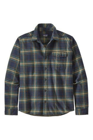Patagonia Mens Long Sleeved Lightweight Fjord Flannel Shirt Lawrence/New Navy