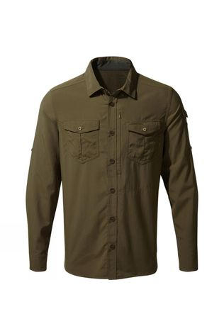 Craghoppers Mens NosiLife Adventure II Long Sleeved Shirt Dark Moss