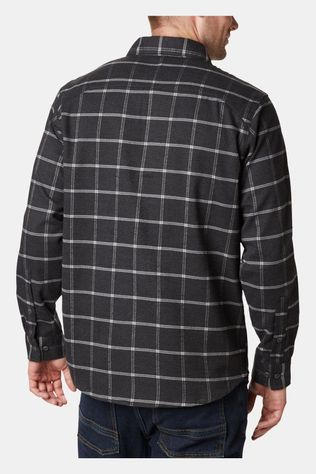 Columbia Mens Outdoor Elements Stretch Flannel Shark Grid Plaid