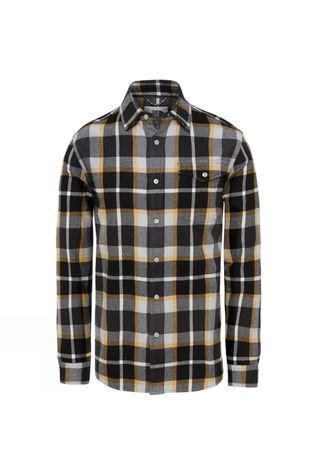 The North Face Mens Long Sleeve Arroyo Flannel Shirt Asphalt Grey Speed Wagon Plaid