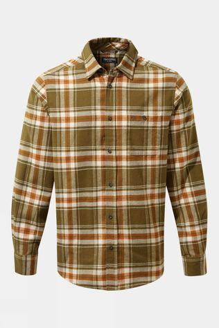 Craghoppers Mens Wilmot Long Sleeved Shirt Woodland Green Check