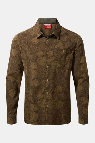 Craghoppers Mens NosiLife Lester Long Sleeve Shirt Woodland Green Print