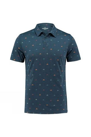 Ayacucho Mens Benny Polo Multi Mini Mountain Navy