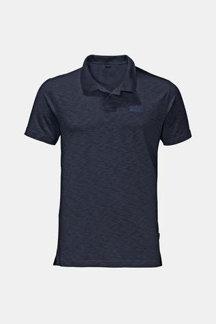 Jack Wolfskin Mens Travel Polo Night Blue