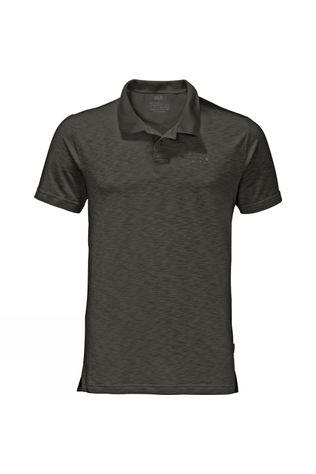 Jack Wolfskin Mens Travel Polo Dark Moss