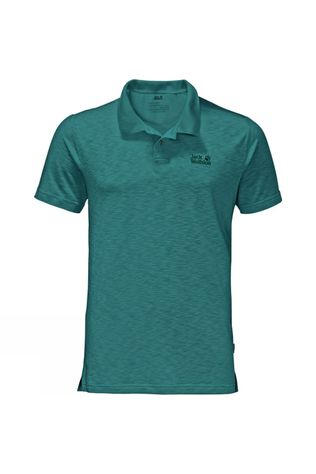 Jack Wolfskin Mens Travel Polo Emerald Green