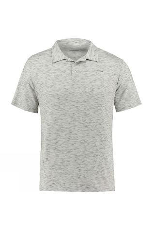 Ayacucho Mens Kibira AM Polo T-shirt Natural Beluga Melange