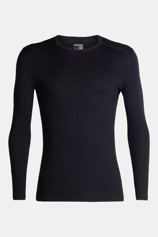 Icebreaker Mens 200 Oasis Long Sleeve Crewe Top Black