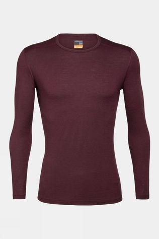 Icebreaker Mens 200 Oasis Long Sleeve Crewe Top Redwood