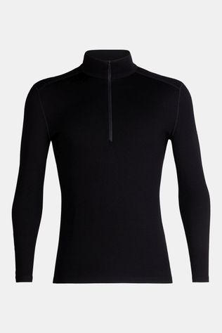 Icebreaker Mens 260 Tech Long Sleeve Half Zip Top Black