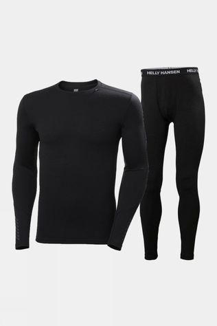 Helly Hansen Mens Lifa Merino Midweight Set Black