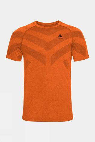 Odlo Mens Kinship Light Baselayer T-Shirt Marmalade Melange