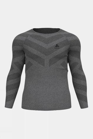 Odlo Mens Kinship Light Crew Neck Baselayer Long Sleeve Grey Melange