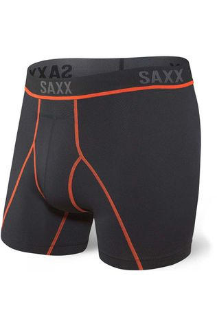 Saxx Men's Kinetic HD Boxer Brief Black/Vermillion