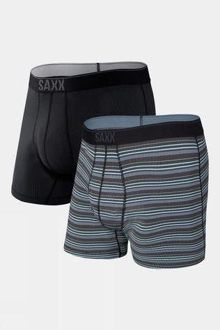 Saxx Men's Quest Boxer Brief 2 Pack Sunrise Stripe/Black