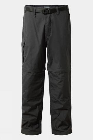 Craghoppers Mens Kiwi Zip-Off Trousers Black Pepper