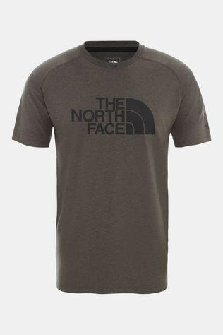 The North Face Mens Wicker Graphic Crew New Taupe Green Heather