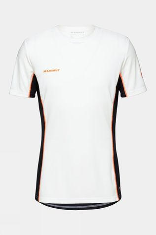 Mammut Mens Sertig T-Shirt White-Black-Vibrant Orange