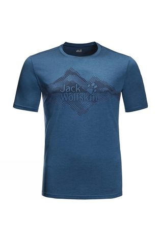 Jack Wolfskin Mens Crosstrail Graphic T-Shirt Indigo Blue