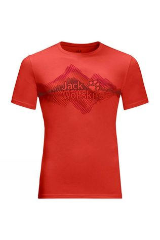Jack Wolfskin Mens Crosstrail Graphic T-Shirt Lava Red