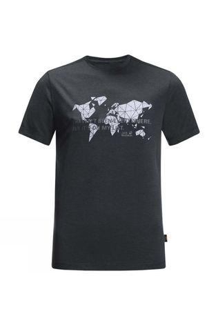 Jack Wolfskin Mens JWP World T-Shirt Phantom